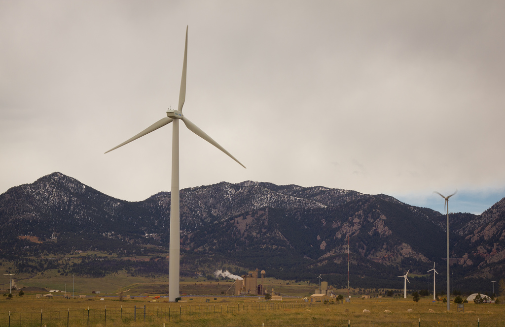 Colorado wind turbines. (Dave Dugdale/Flickr)