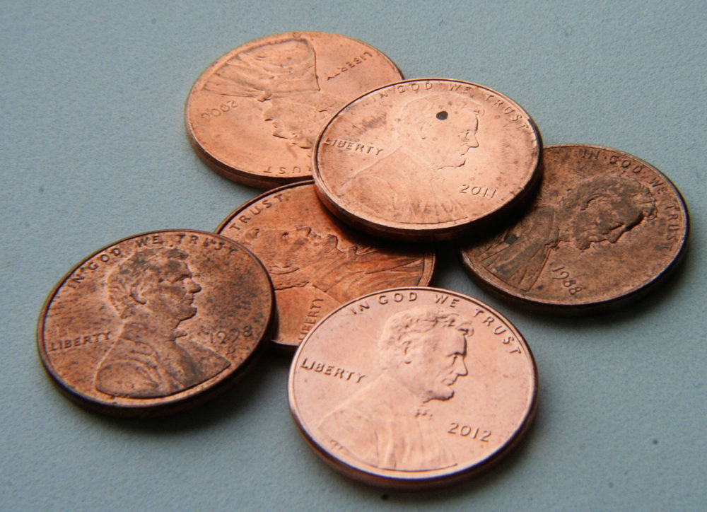 Normal pennies, not the Ally ones. (Kate Ter Haar/Flickr)