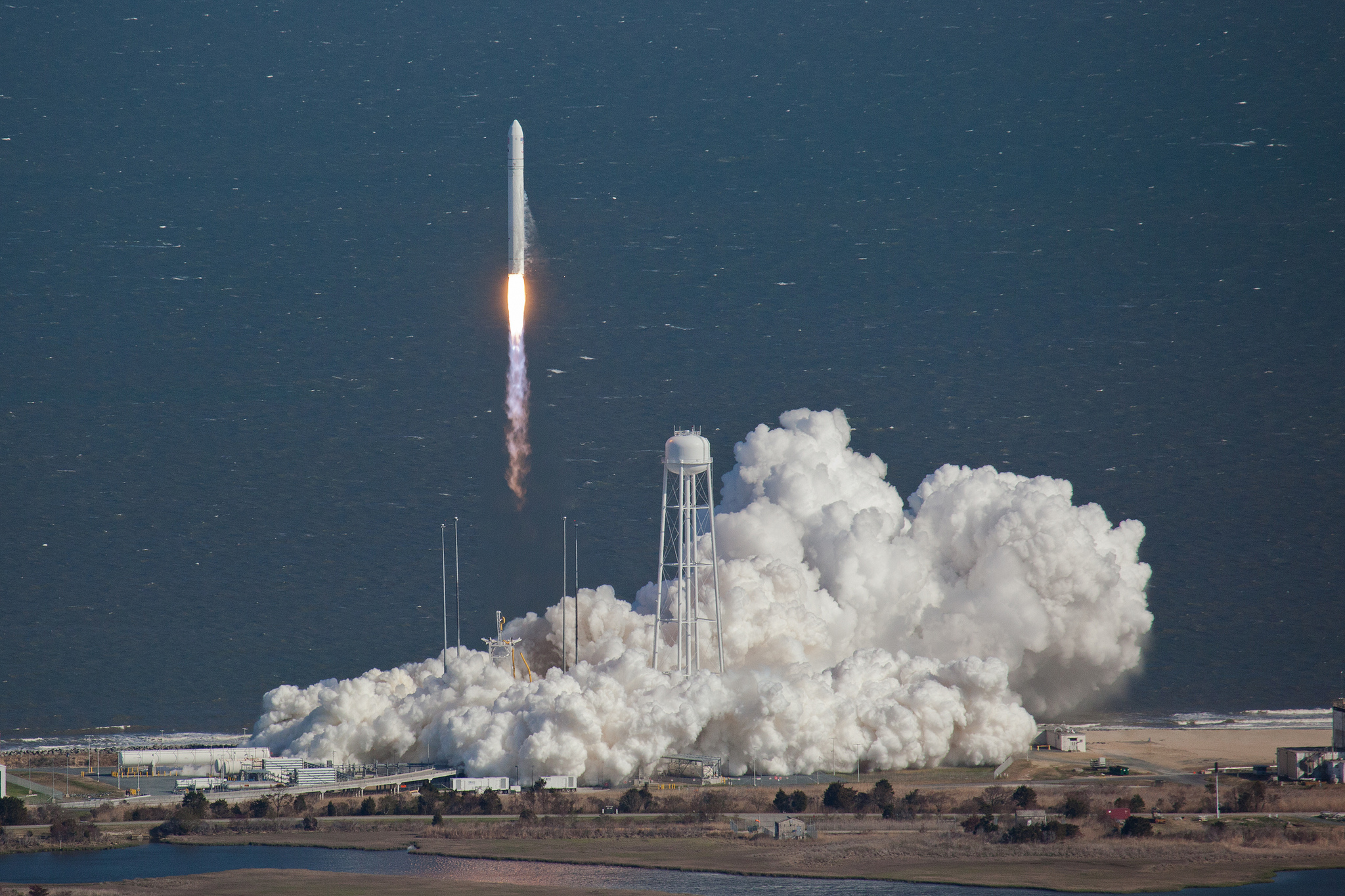 Orbital Sciences Corporation launched its Antares rocket from the Wallops Island launch site in 2013. (NASA Goddard Space Flight/2013)