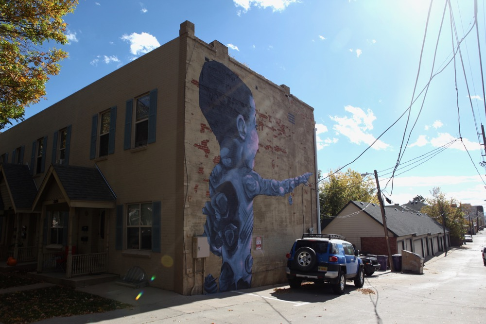 A mural in Highland. (Andrew Kenney/Denverite)