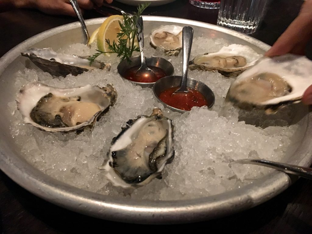 Mister Tuna has East Coast and West Coast oysters. (Ashley Dean/Denverite)