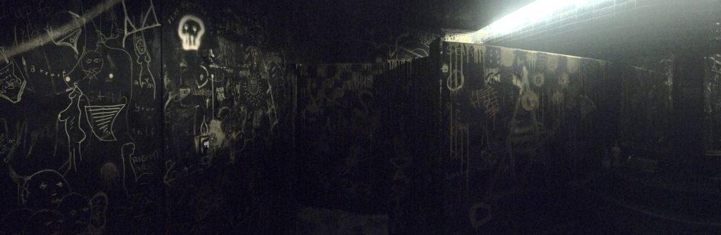 A restroom at Mister Tuna. (Ashley Dean/Denverite)