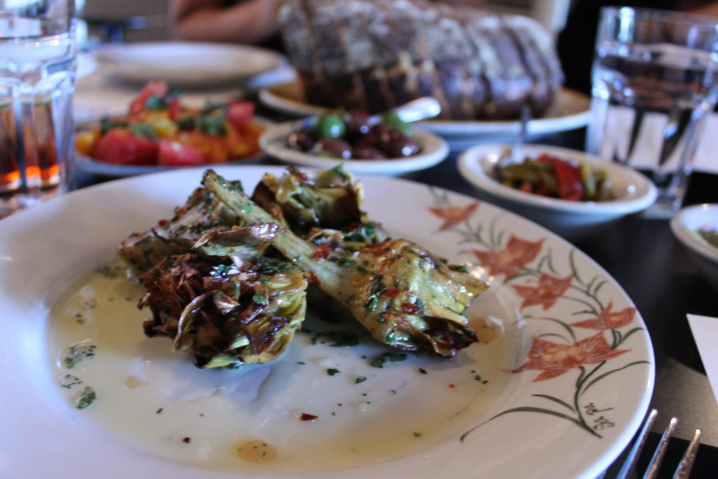 Roman-style fried artichokes served for lunch at Coperta,  400 E. 20th Ave.  (Ashley Dean/Denverite)