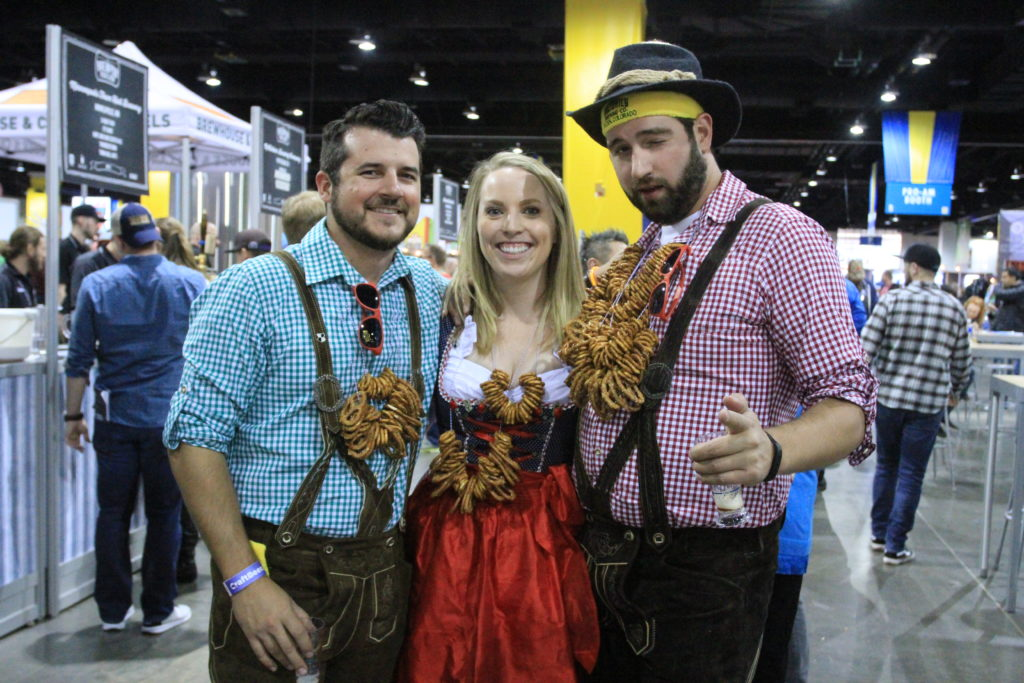 Friends from Denver. Great American Beer Fest, Oct. 6, 2016. (Stephanie Snyder/Denverite)