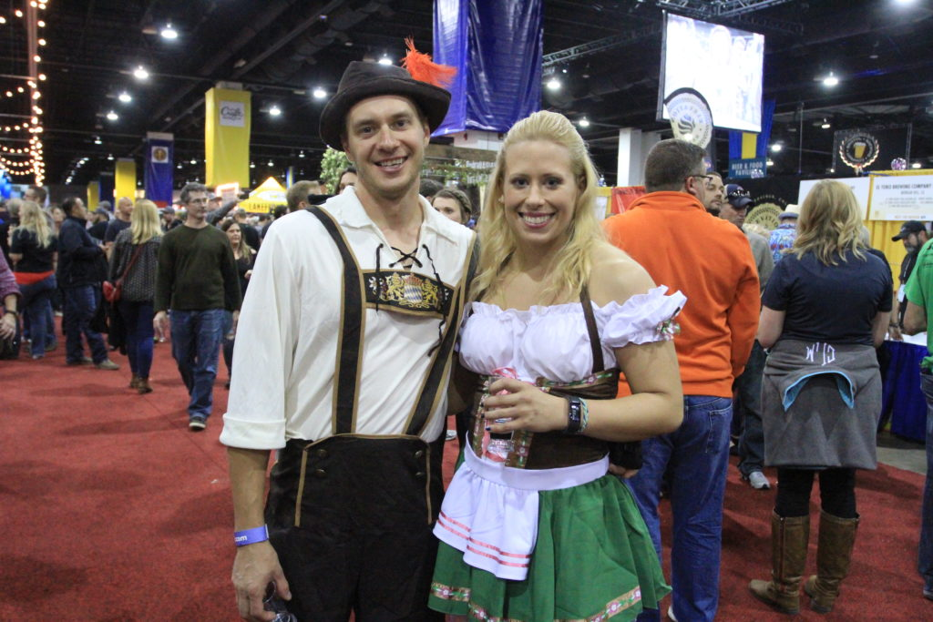 Serge Iozovyk and Rose Wisdom, of Arvada, Colo. Great American Beer Festival, Oct. 6, 2016. (Stephanie Snyder/Denverite)