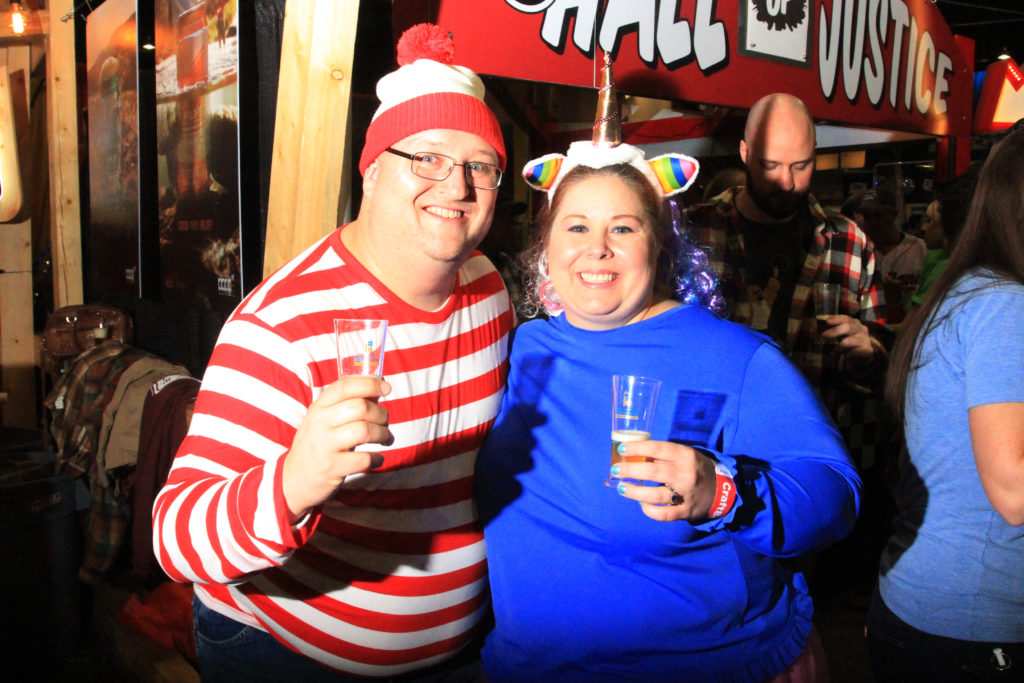 Mike Axeen and Kelly Axeen, of Los Angeles, Calif., at Great American Beer Festival, Oct. 7, 2016. (Stephanie Snyder/Denverite)