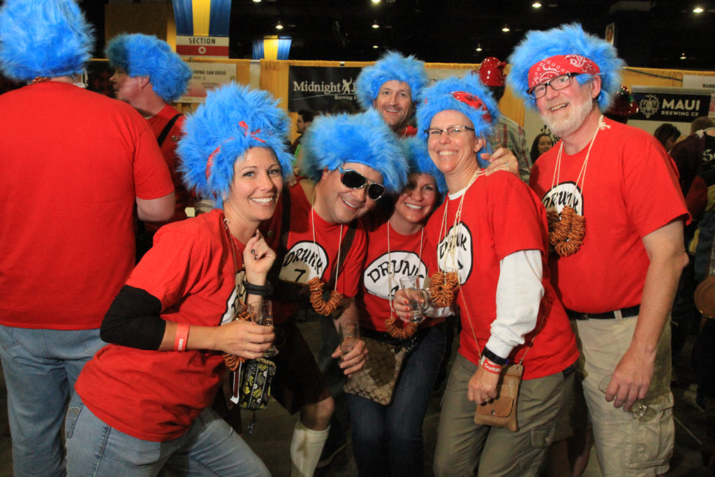 Friends from Denver at Great American Beer Festival, Oct. 7, 2016. (Stephanie Snyder/Denverite)