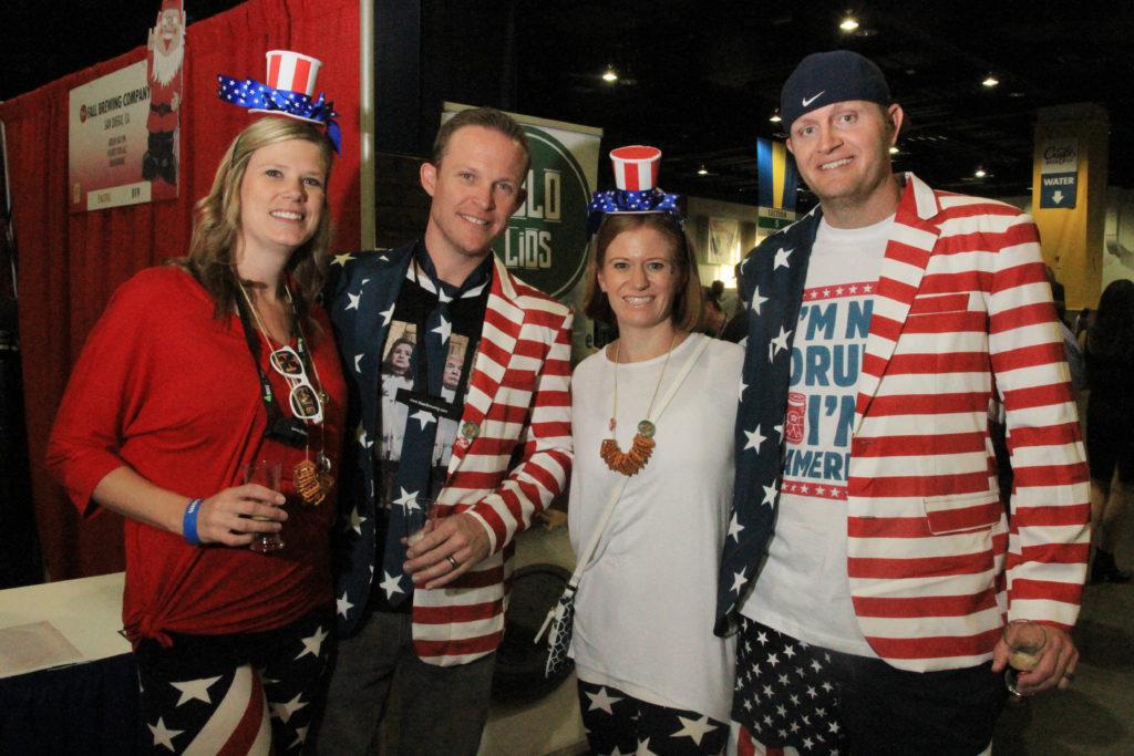 Friends from Denver and Scottsdale, Ariz., at Great American Beer Festival, Oct. 8, 2016. (Stephanie Snyder/Denverite)