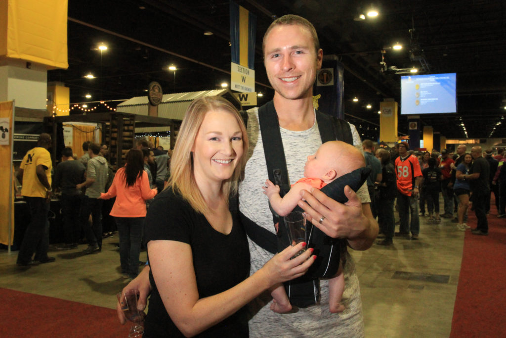Kirsten and Alex Taujenis of Broomfield, Colo., at Great American Beer Festival, Oct. 8, 2016. (Stephanie Snyder/Denverite)
