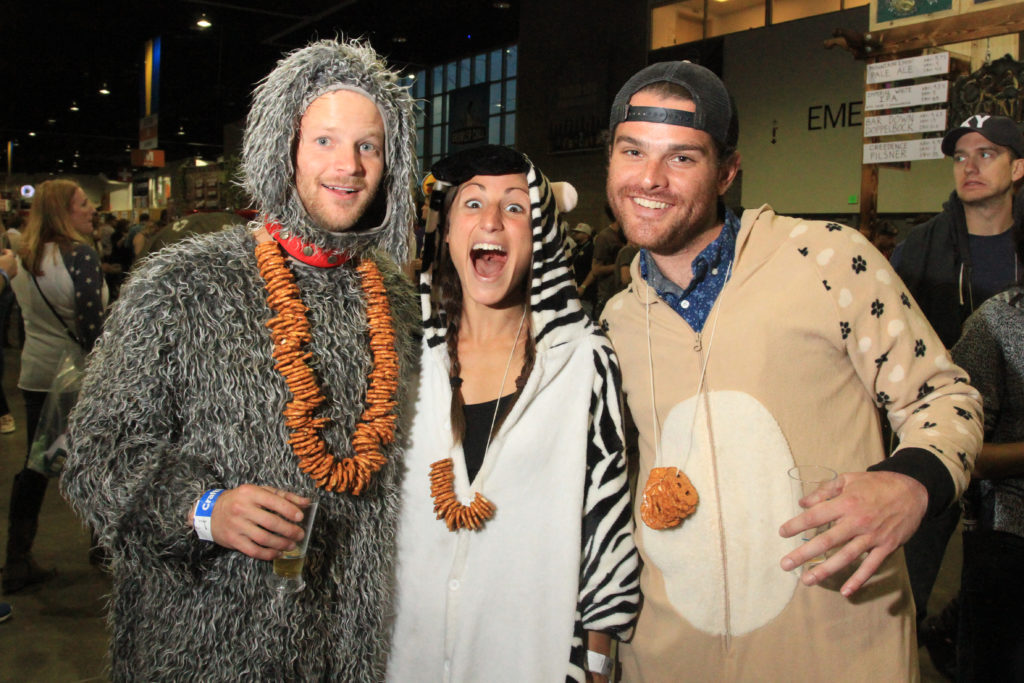 Friends from Denver at Great American Beer Festival, Oct. 8, 2016. (Stephanie Snyder/Denverite)