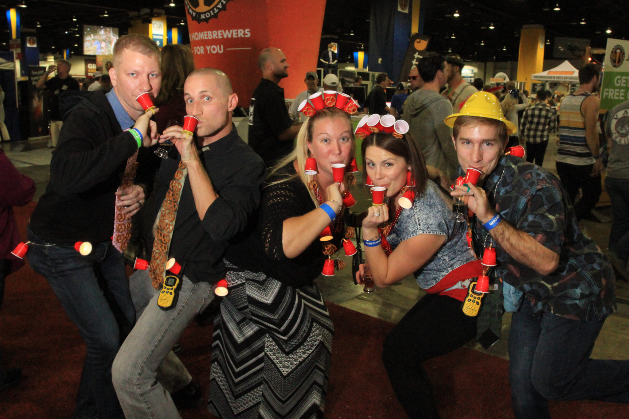 Friends from Denver, Colo., and Mesa, Ariz., at Great American Beer Festival, Oct. 8, 2016. (Stephanie Snyder/Denverite)