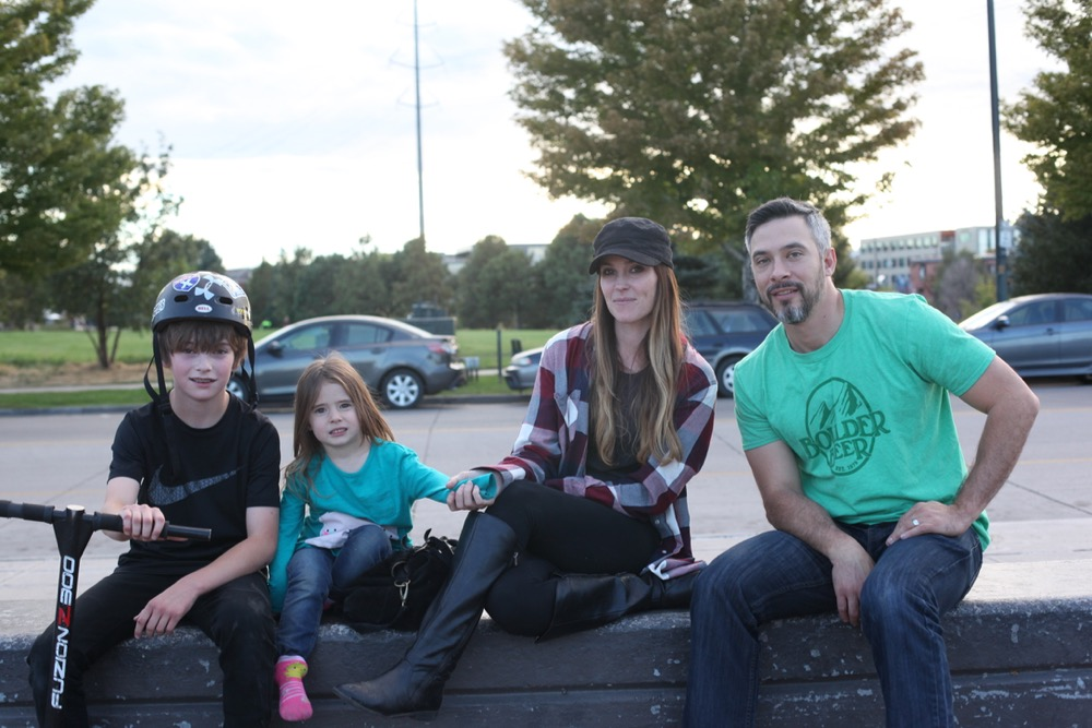 The Dahm family are frequent visitors to the Denver Skate Park. (Andrew Kenney/Denverite)