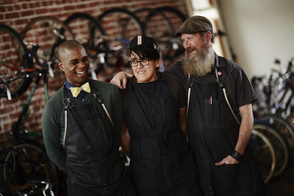 Gregory Crichlow, Gabi Tobar, TJ Gill at Chocolate Spokes (Courtesy of Gregory Crichlow; photo by Jessica Grenier)