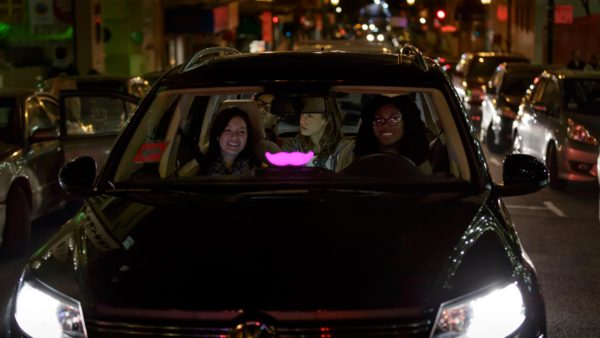 A Lyft ride. (Courtesy of Lyft)