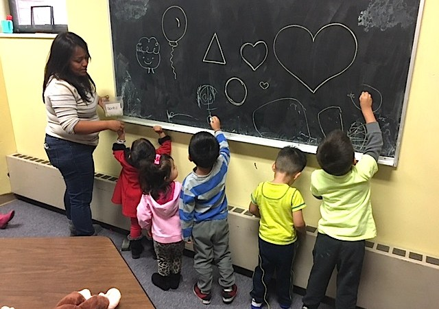 During a recent PASO class, graduates of the program cared for the providers' children in the church nursery. (Ann Schimke/Chalkbeat)