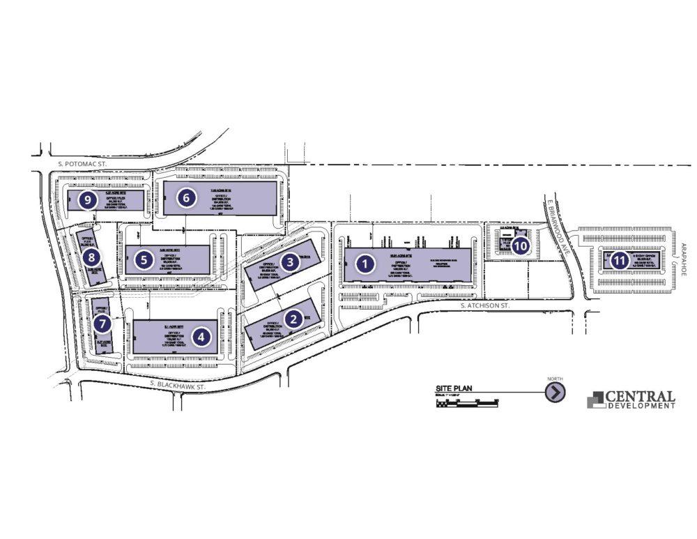 Encompass Business Park plan. (Courtesy of Central Development)