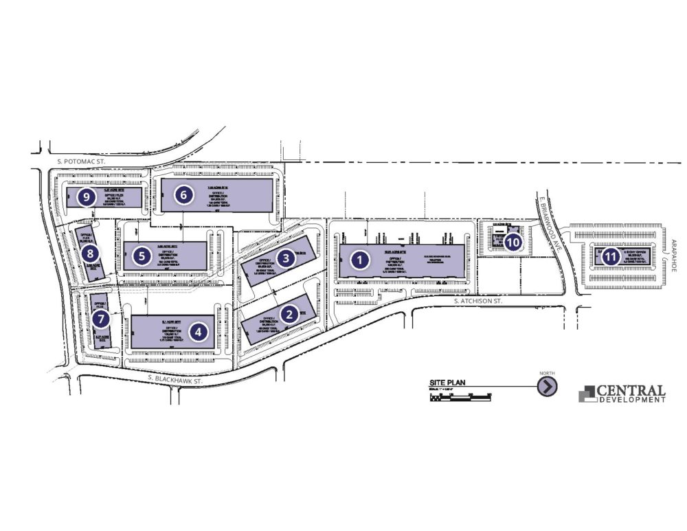Encompass Business Park plan. (Courtesy of Central Development)