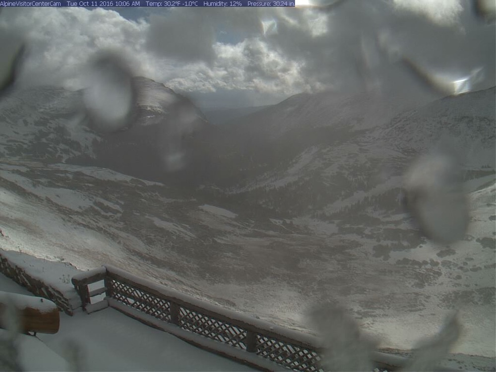 The view from Rocky Mountain National Park's Alpine Visitor Center on Oct. 11, 2016. (National Park Service)