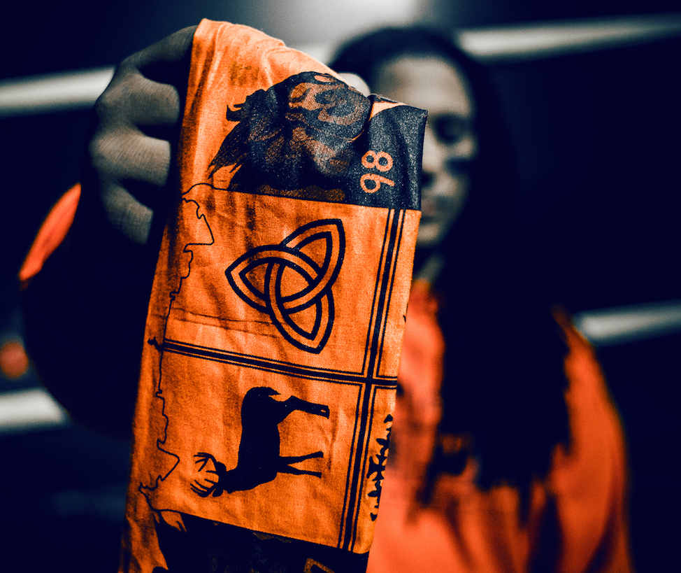A Bronco Gang flag. (Courtesy of Andrew Young)