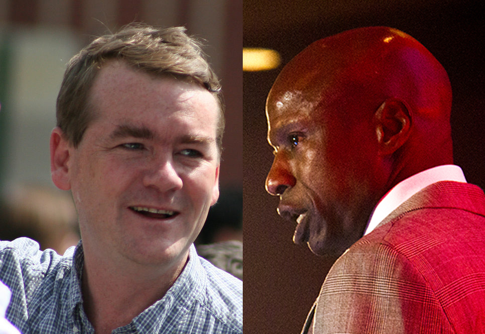Darryl Glenn and Michael Bennet. (Kevin J. Beaty and Chloe Aiello/Denverite)  darryl glenn; republican; election; vote; politics; denver; colorado; kevinjbeaty; denverite;