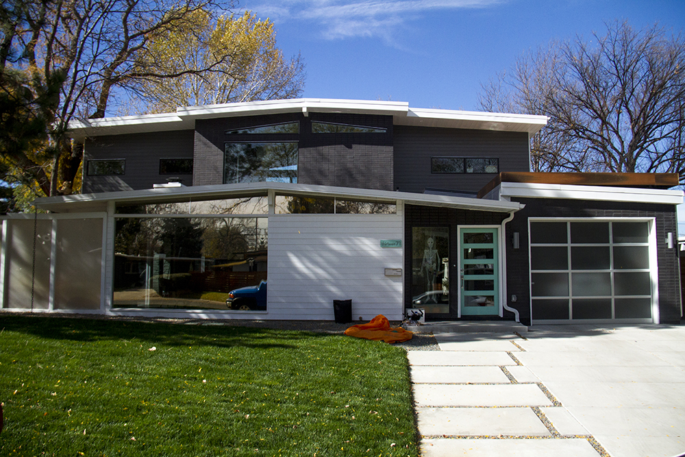 A mid-modern home with a second-story addition on S. Edison Way in Virginia Village. (Kevin J. Beaty/Denverite)  virginia village; denver; residential real estate; houses; midmod; denverite; kevinjbeaty;