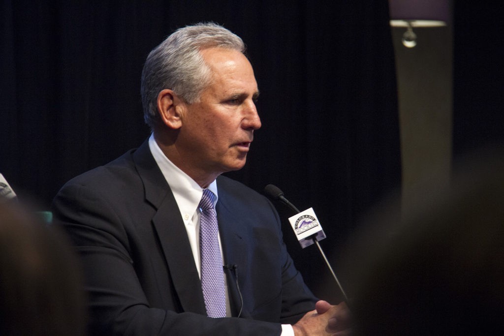 Bud Black speaks at a press conference announcing his new role as Colorado Rockies' manager. Nov. 7, 2016. (Kevin J. Beaty/Denverite)  colorado rockies; sports; baseball; bud black; kevinjbeaty; denver; denverite; colorado;
