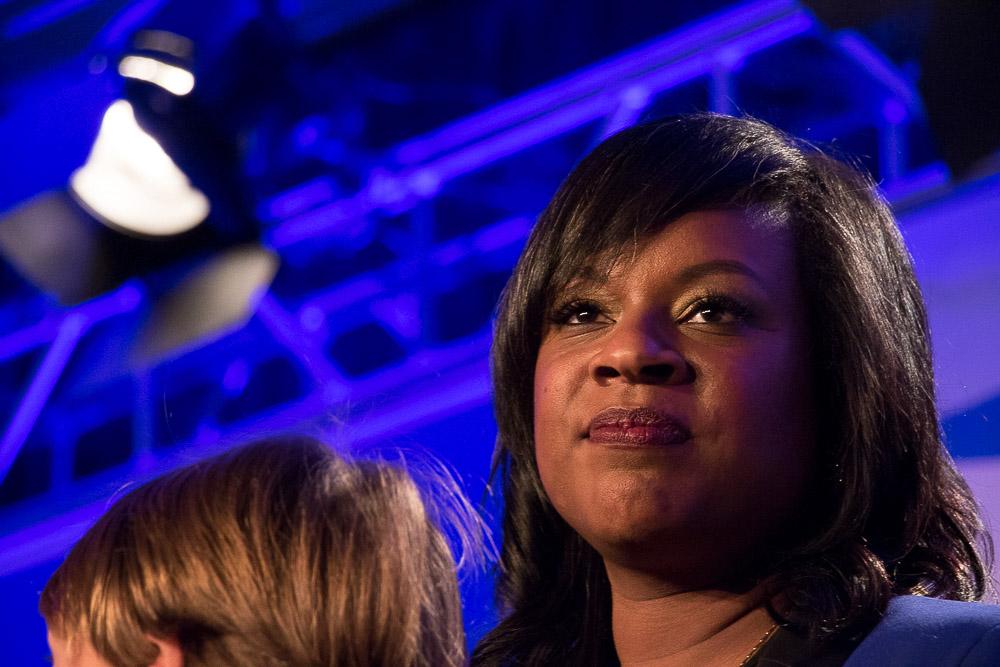 Leslie Herod at the 2016 Democratic Watch party at the downtown Denver Westin. (Chloe Aiello/Denverite)