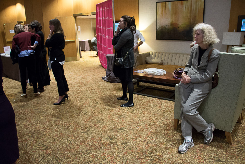 Chris Citron despairs on Election Night 2016 at the downtown Denver Westin. (Chloe Aiello/Denverite)