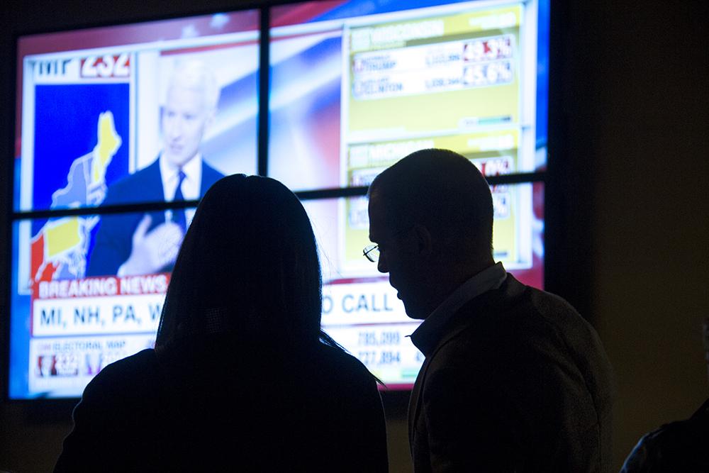 The Denverite Election Party, Nov. 8, 2016. (Kevin J. Beaty/Denverite)  election; vote; voting; copolitics; politics; election party; kevinjbeaty; denver; denverite; colorado; galvanize;