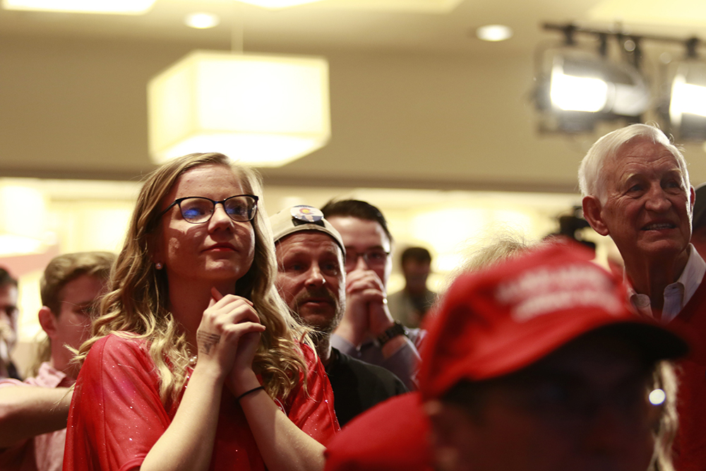 2016 GOP watch party at the Double Tree Hotel in Greenwood Village on Nov. 8, 2016. (Jessica Taves/For Denverite)  election; republican; campaign; vote; voting; politics; colorado; copolitics; kevinjbeaty; denverite; denver; colorado;
