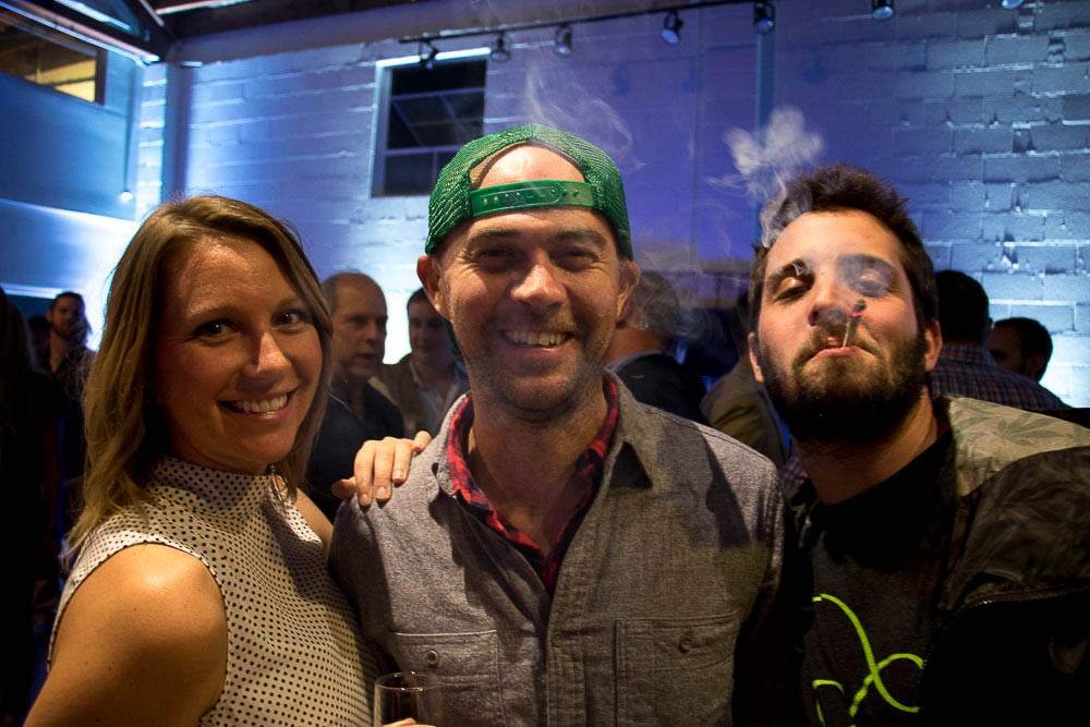 Revelry at Chong's Choice launch party in RiNo. (Chloe Aiello/Denverite)