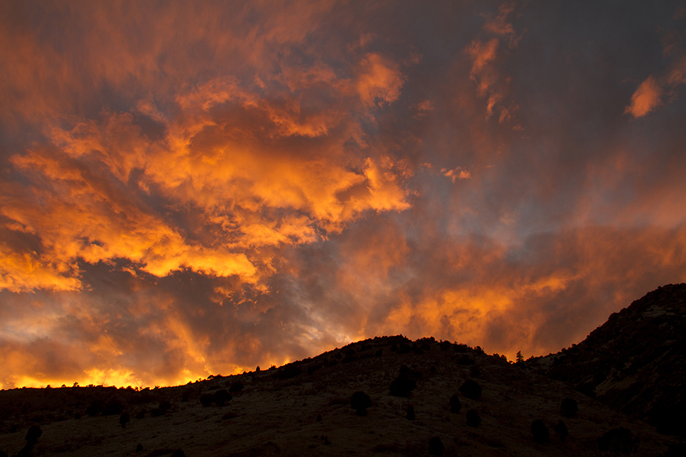 An amber sunset seen from Red Rocks. Nov. 14, 2016. (Kevin J. Beaty/Denverite)  denver; colorado; skyline; cityscape; sunset; evening; cowx; weather; kevinjbeaty; denverite;