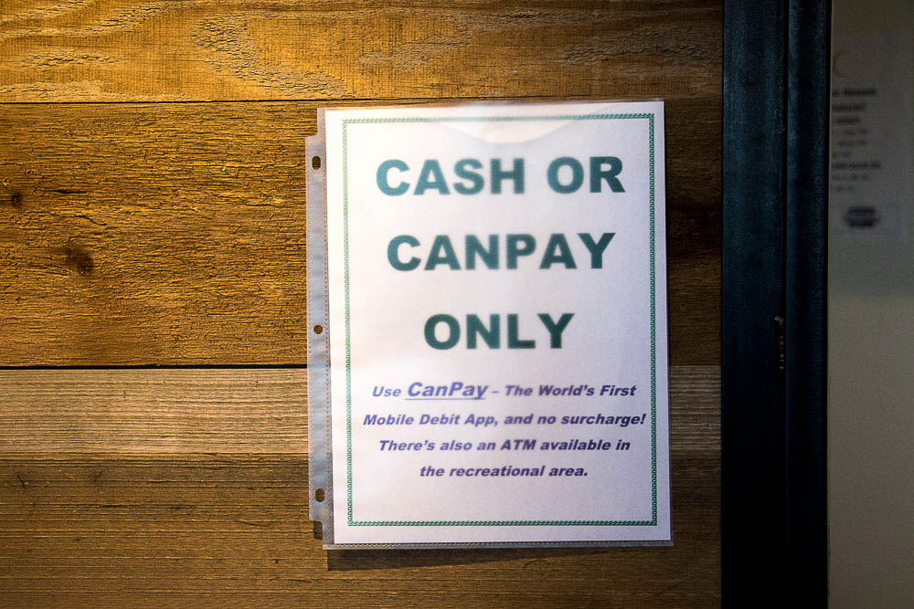 CanPay is a new debit option to pay for Cannabis. (Chloe Aiello/Denverite)