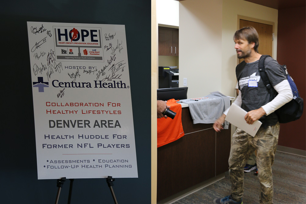 Jake Plummer visits Centura Health for a complimentary health screening. (Courtesy of Centura Health)