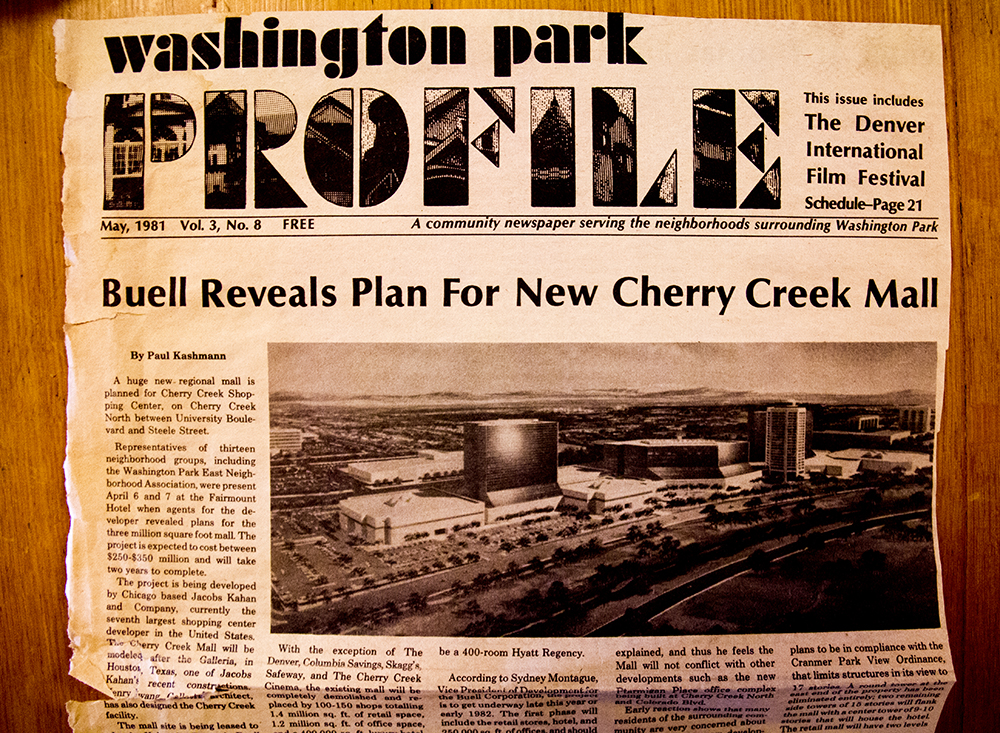 An article by Paul Kashmann about the Cherry Creek Mall redevelopment, May 1981. (Denver Public Library/Western History Collection/)  archive; library; historic; denver; denverite; colorado