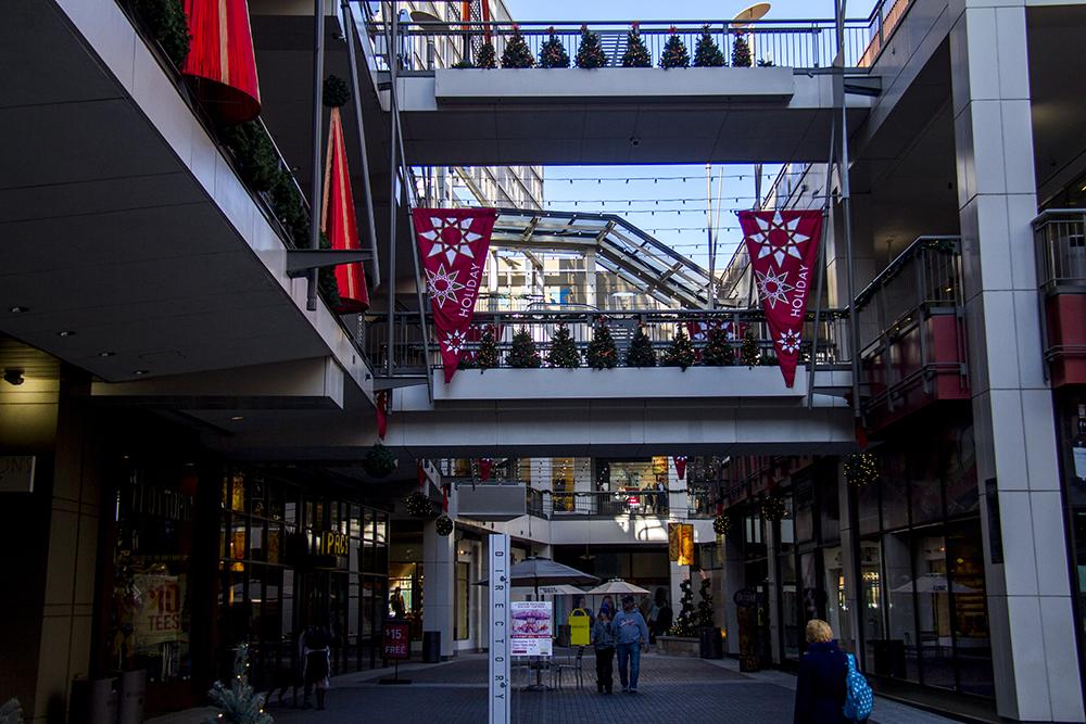 Denver Pavilions is not too crowded on Black Friday. (Kevin J. Beaty/Denverite)  16th street mall; sixteenth street; shopping; retail; pavillions; black friday; kevinjbeaty; denverite; denver; colorado
