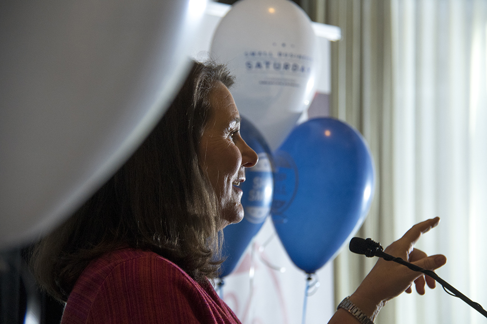Congresswoman Diana DeGette speaks at a Small Business Saturday event. Nov. 26, 2016. (Kevin J. Beaty/Denverite)  small business saturday; denver; denverite; retail; kevinjbeaty; colorado;