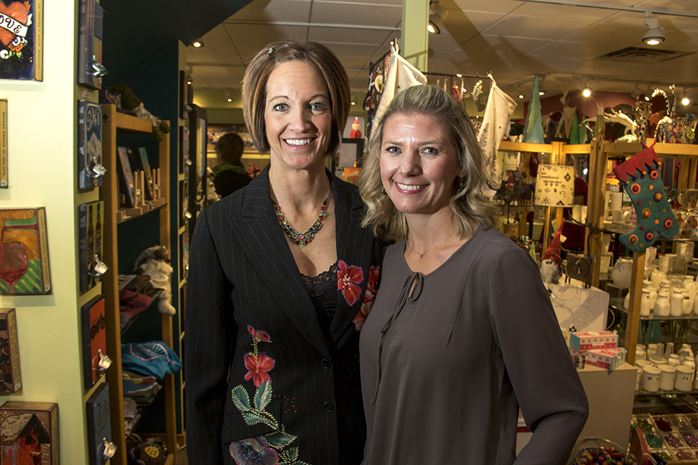 Show of Hands owners Katie Friedland (left) and Mandy Moscatelli. Small Business Saturday. Nov. 26, 2016. (Kevin J. Beaty/Denverite)  small business saturday; denver; denverite; retail; kevinjbeaty; colorado;