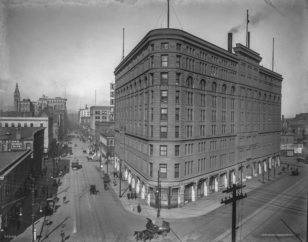 A view of Denver's Brown Palace in 1911. (William H. Jackson/History Colorado via John Fielder)