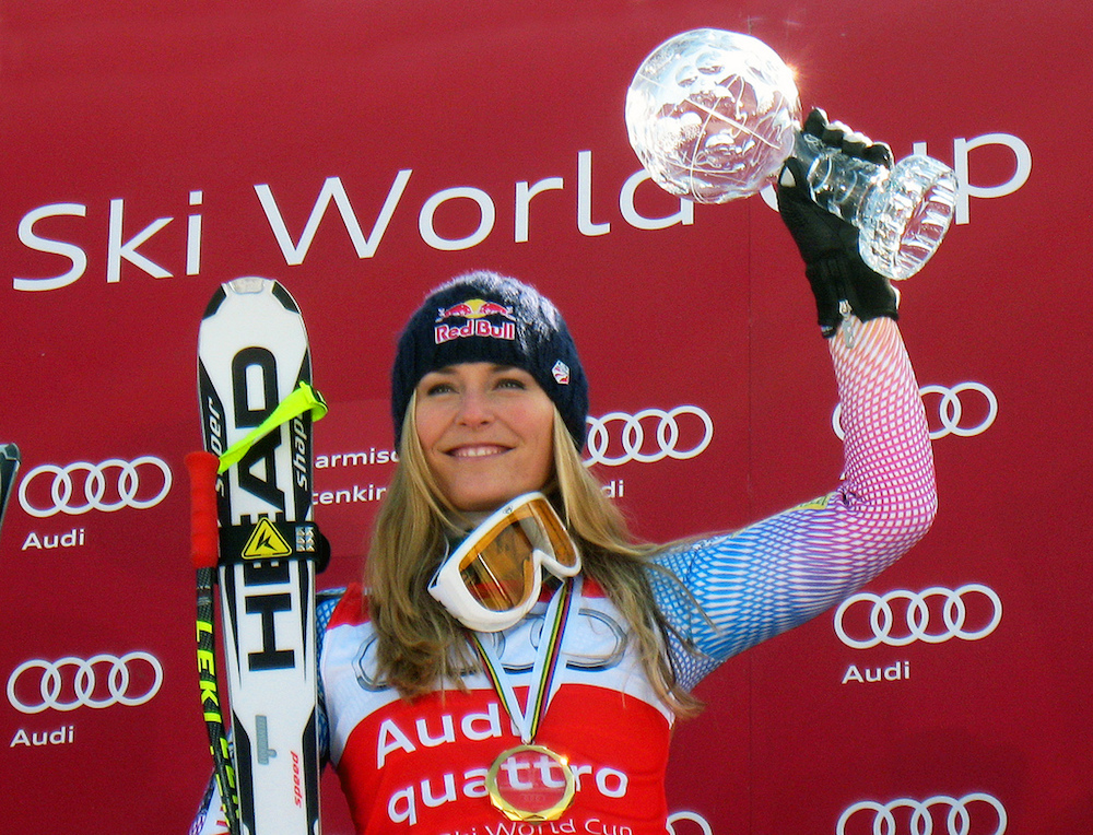 Lindsey Vonn broke her arm Thursday. (Doug Haney/U.S. Ski Team)