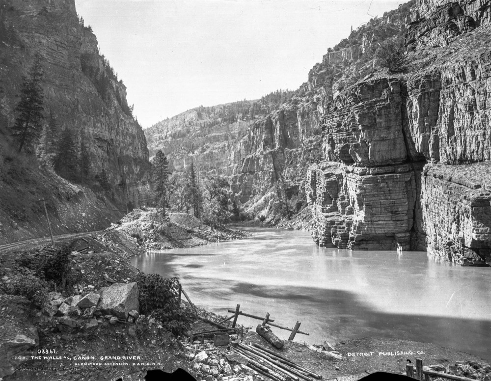 """Cañon of the Grand River"" in 1891. (William H. Jackson/History Colorado via John Fielder)"