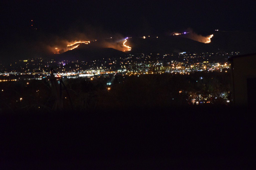 The Green Mountain Fire viewed from the Sloans Lake area. (Courtesy Allen Cowgill)