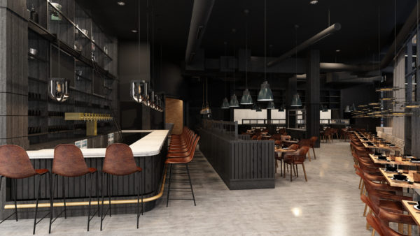 A rendering of the interior of Hearth & Dram, coming to the Union Station neighborhood. (Courtesy of B Public)