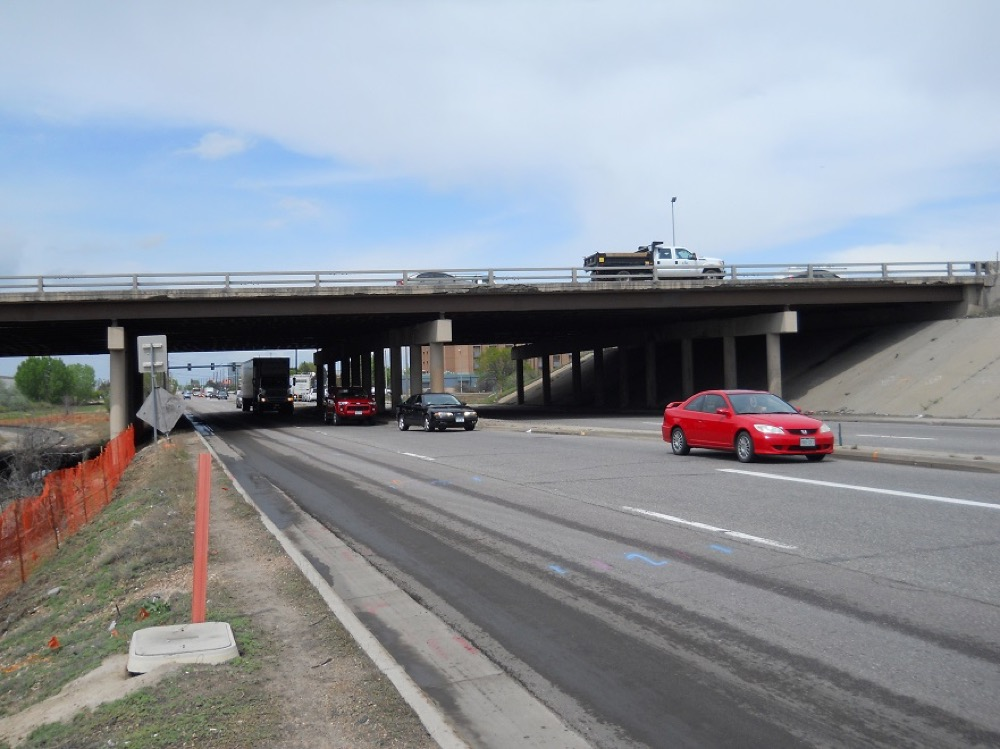An image of I-70 over Havana Street. (CDOT)