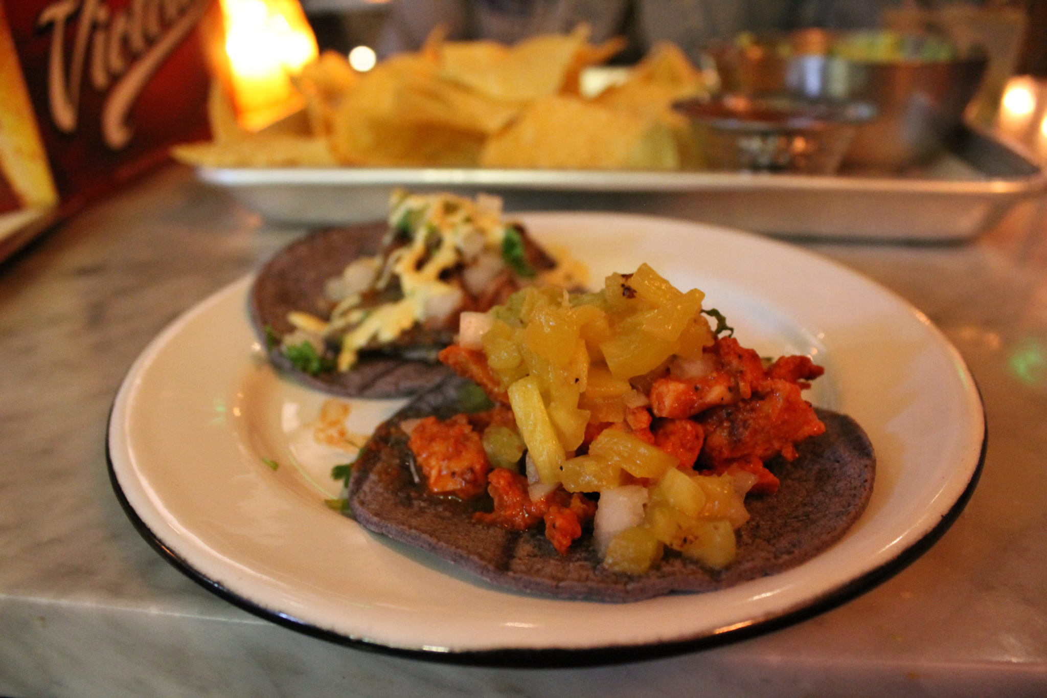 Pork pastor taco at La Güera, 1610 Little Raven St., #200. (Ashley Dean/Denverite)