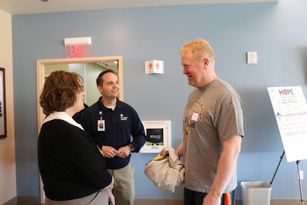 Karl Mecklenburg takes advantage of Centura's NFL health screenings. (Courtesy of Centura Health)