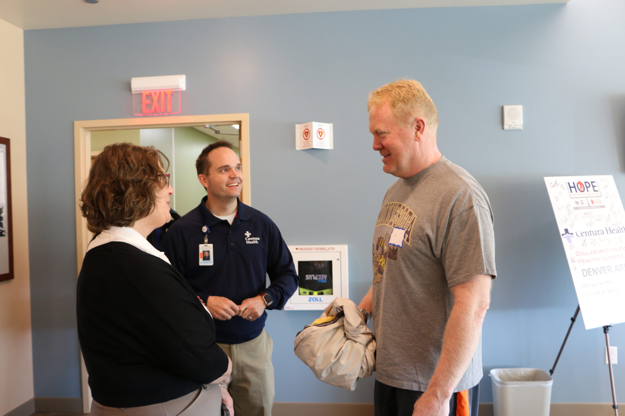 Karl Mecklenburg takes advantage of Centura's NFL health screenings. (Courtesy of Centura Health)