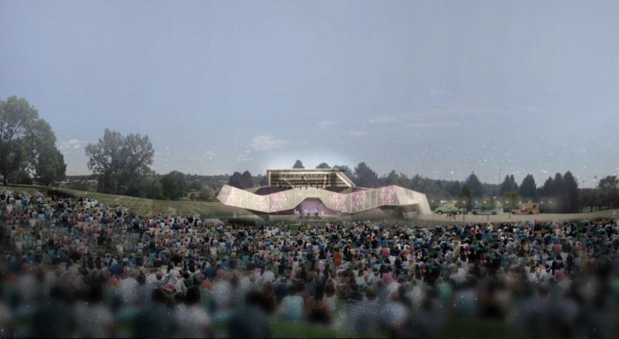 Artist's rendering of Levitt Pavilion. (Courtesy of Denver Parks and Recreation)