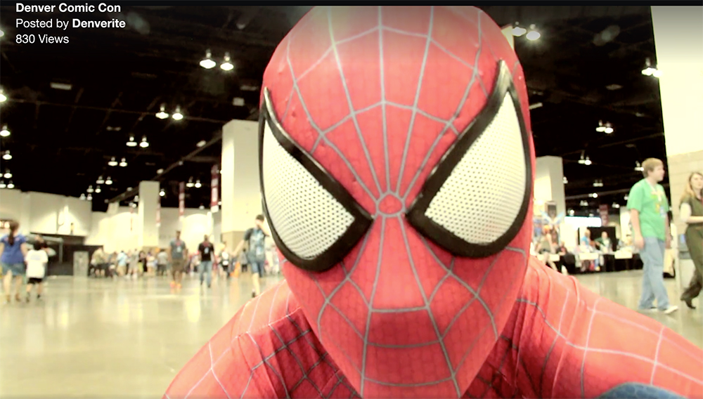 comic con; denver; denverite; spider-man; kevinjbeaty;