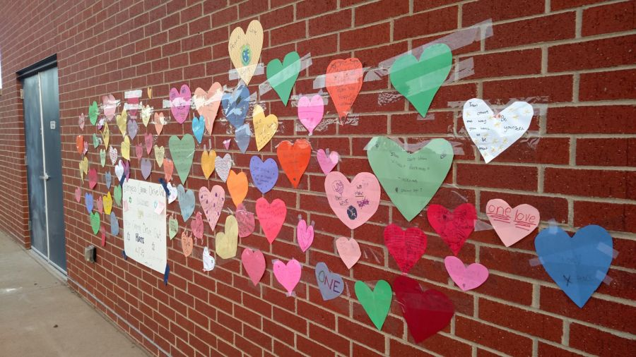 Messages of hope and love have replaced graffiti at Denver's Isabella Bird Community School. (Eric Gorsky/Chalkbeat)